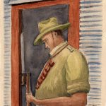 A guard at Loveday, 1943. Courtesy Ralph Guilor.