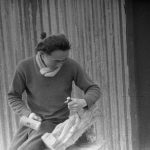 Loveday civil internment camp, camp 14B. Japanese wood-carver. July 1944. ICRC Audiovisual Archive V-P-HIST-01878-30A.